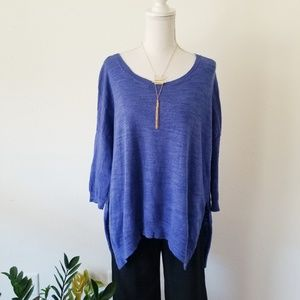 Anthropologie Moth Blue Oversized Sweater Small